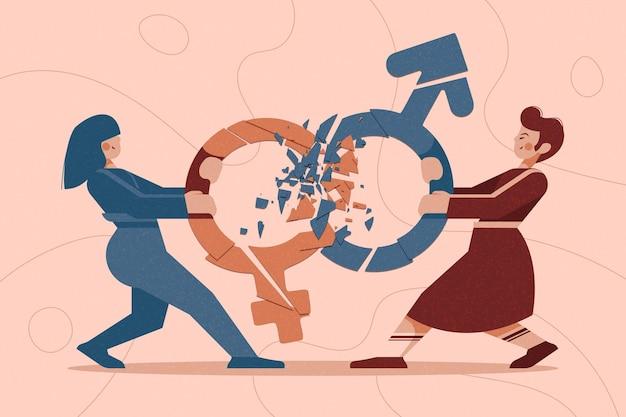 Concepto de movimiento neutral de género