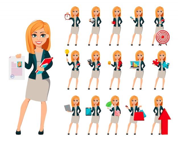 Concepto de mujer de negocios moderna
