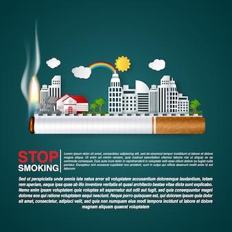 El concepto mundial del día sin tabaco deja de fumar