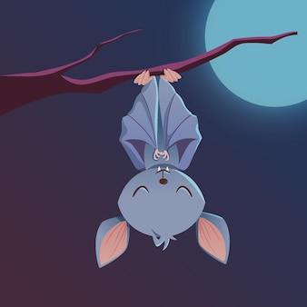 Concepto de murciélago de halloween