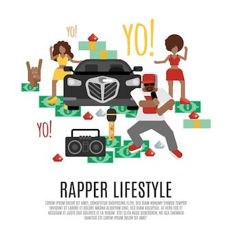 Concepto de música rap
