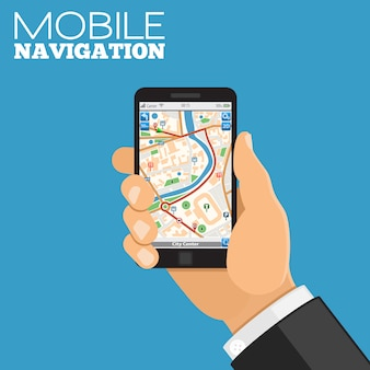 Concepto de navegación móvil