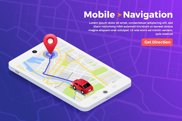 Concepto de navegador de ubicación