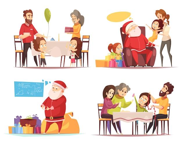 Concepto de navidad 2x2