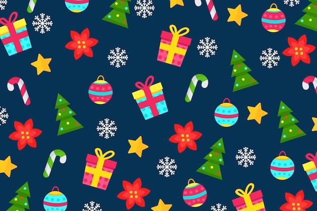 Concepto de navidad en diseño plano