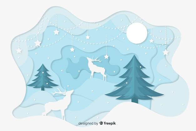 Concepto de navidad con fondo de estilo de papel