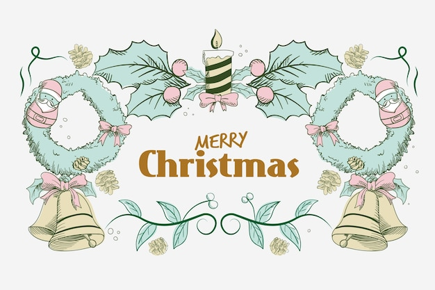 Concepto de navidad con fondo vintage