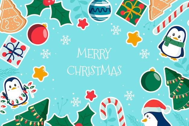 Concepto de navidad en mano alzada