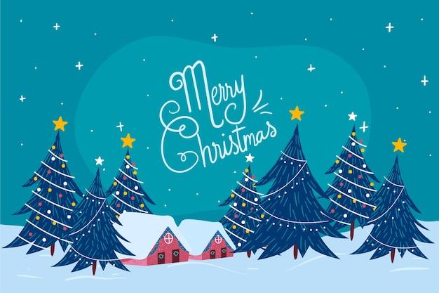 Concepto de navidad en mano dibujado