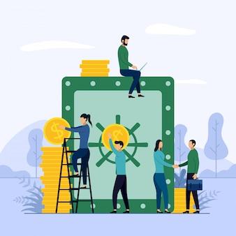 Concepto de negocio de ahorro de dinero