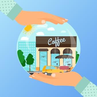 Concepto de negocio para la apertura de café café.