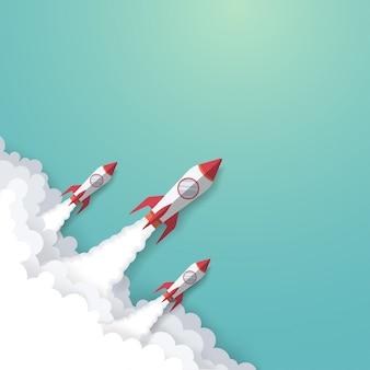 Concepto de negocio de cohetes