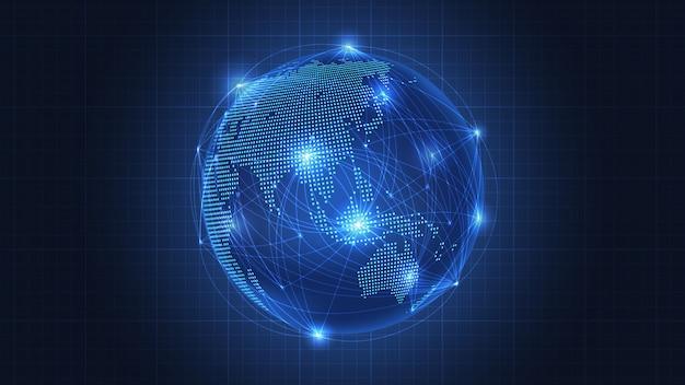Concepto de negocio de conexión de red global