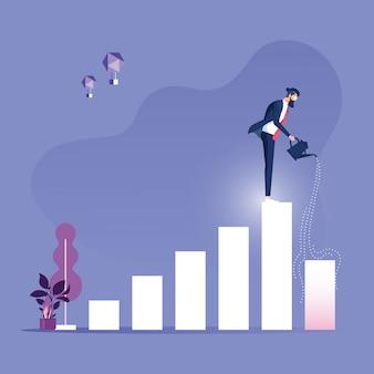 Concepto de negocio de crecimiento de inversión y finanzas