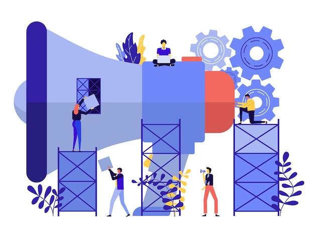 Concepto de negocio de diseño plano moderno para la comercialización a utilizar para el diseño web.