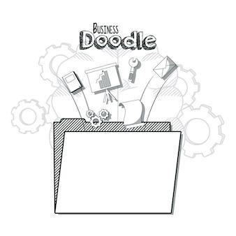 Concepto de negocio doodle