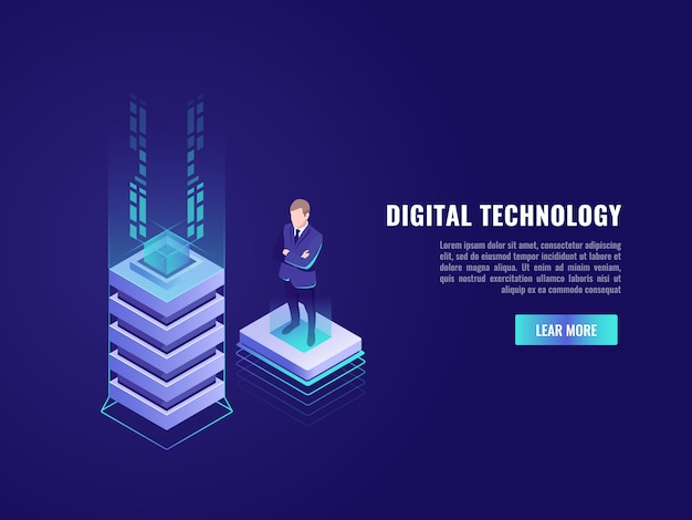 Concepto de negocio con elemento de tecnología informática