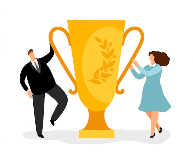 Concepto de negocio de ganadores