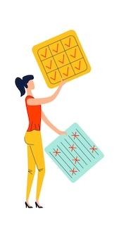 Concepto de negocio de gestión de tiempo y fecha límite