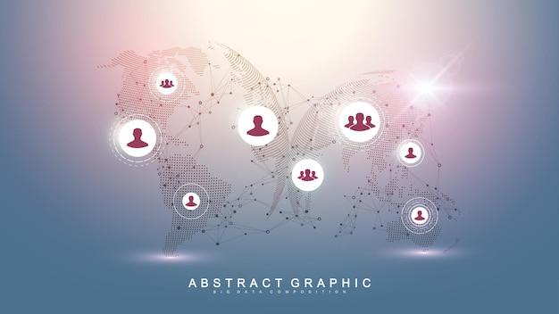 Concepto de negocio global y tecnología de internet
