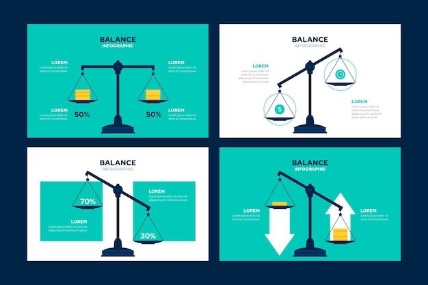 Concepto de negocio de infografías de equilibrio