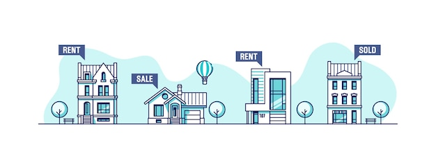 Concepto de negocio inmobiliario