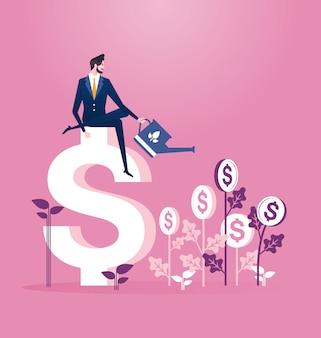 Concepto de negocio de inversión