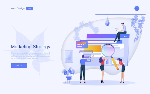 Concepto de negocio para el marketing digital.