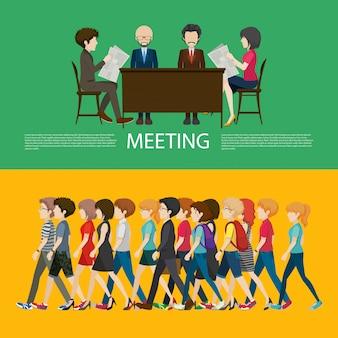 Concepto de negocio con personas.