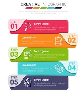 Concepto de negocio de plantilla de infografía