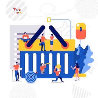Concepto de negocio de vector de ilustración.