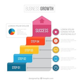 Concepto de negocios y infográficos