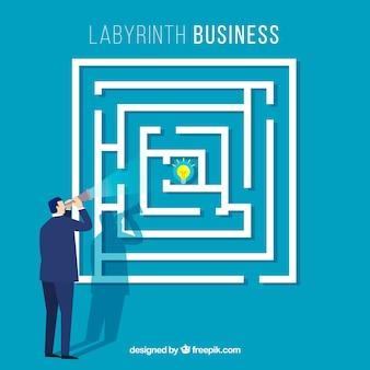 Concepto de negocios con laberinto