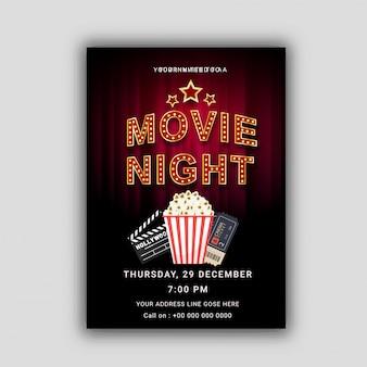 Concepto de noche de película