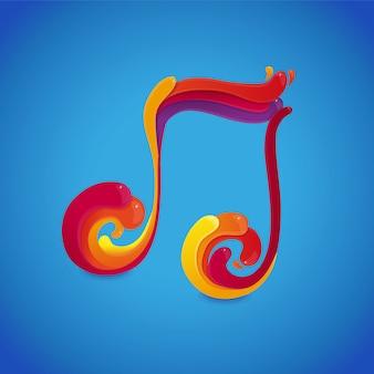 Concepto de nota musical de vector