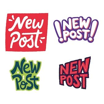 Concepto de nueva ilustración de publicaciones para redes sociales y sitios web