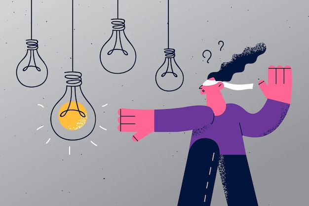 Concepto de nuevas ideas de desafío de estrategia
