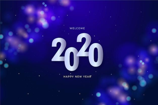 Concepto de número con fecha de año nuevo