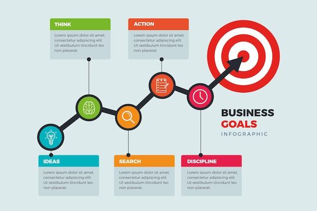 Concepto de objetivos de infografía