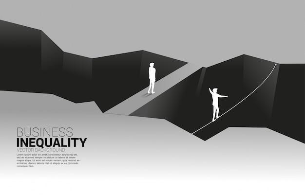 Concepto de obstáculos profesionales y desigualdad.