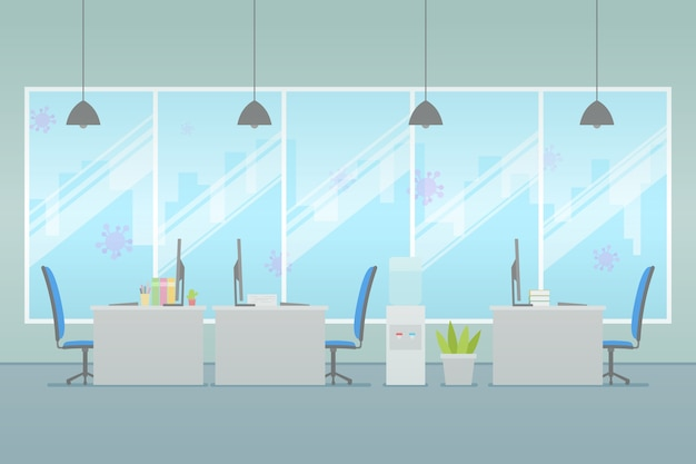 Concepto de oficina vacía