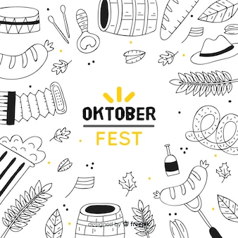 Concepto de oktoberfest con elementos de fiesta