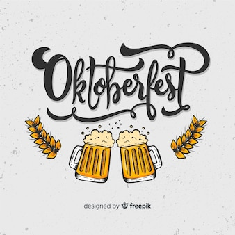 Concepto de oktoberfest con fondo de letras
