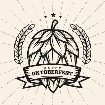 Concepto de oktoberfest vintage
