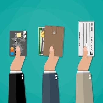 Concepto de opciones de pago