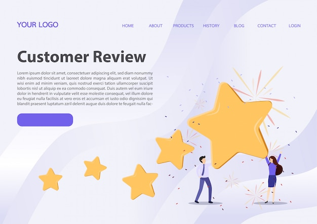 Concepto de opiniones de clientes