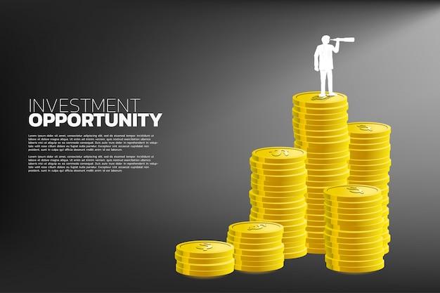 Concepto de oportunidad de inversión empresarial.