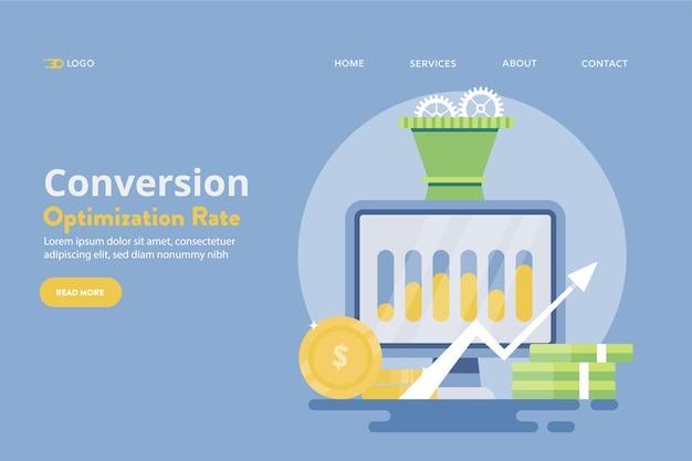 Concepto de optimización de conversión