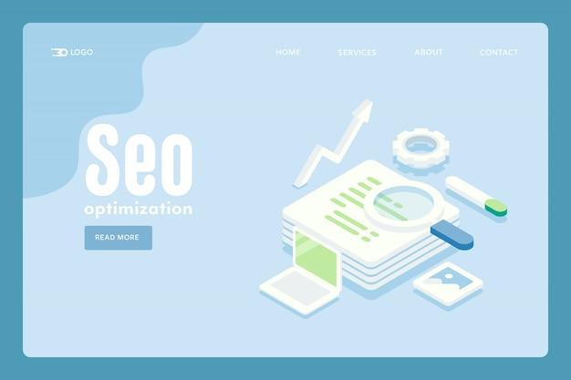 Concepto de optimización de seo