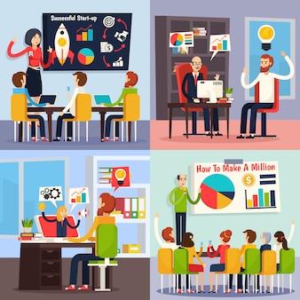 Concepto ortogonal de coaching empresarial